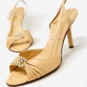 Size 7 Chanel Sandals | Tan | Leather